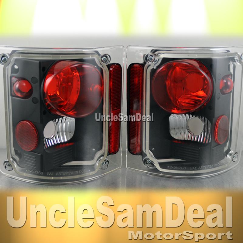 1973-1991 Chevy GM Blazer Suburban Pickup Truck Smoke Tail Lights Pair