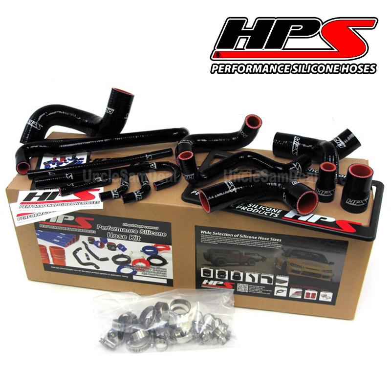 HPS 57-1209-BLK Black Silicone Radiator Hose Kit for BMW